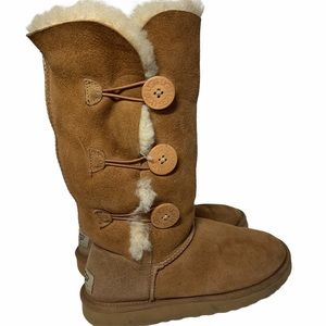 UGG Bailey Suede Button Triplet II Boots